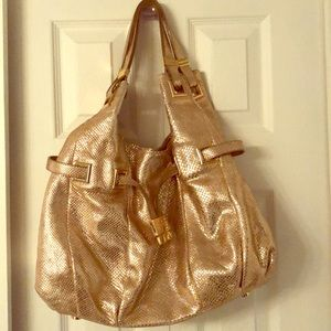 Michael Kors gold large bag